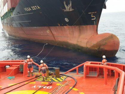 Maniobra de un buque sin gobierno. A la deriva